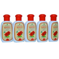 Rajah Ayurveda Rootz Herbal Shampoo Ayurvedic Anti Dandruff Shampoo 100 ml (Pack of 5)