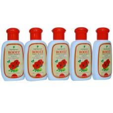 Rajah Ayurveda Rootz Herbal Shampoo Ayurvedic Anti Dandruff Shampoo 100 ml (Pack of 5)