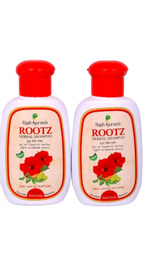 Rajah Ayurveda Rootz Herbal Shampoo - 100ml (Pack of 2)